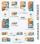 big sale concept multicolored...   Shutterstock .eps vector #407406355