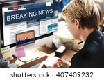 breaking news media... | Shutterstock . vector #407409232