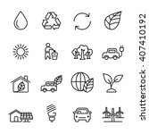 thin line ecology icon set 5 ... | Shutterstock .eps vector #407410192