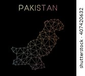 pakistan network map. abstract... | Shutterstock .eps vector #407420632