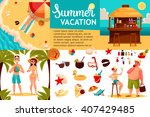 infographics with travel... | Shutterstock .eps vector #407429485