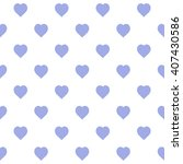 purple seamless heart pattern | Shutterstock .eps vector #407430586
