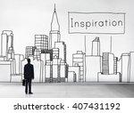 inspiration aspiration... | Shutterstock . vector #407431192