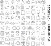 line modern icons set. vector...