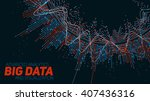 big data visualization.... | Shutterstock .eps vector #407436316
