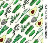seamless pattern background... | Shutterstock .eps vector #407443192