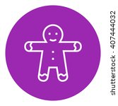 gingerbread man line icon. | Shutterstock .eps vector #407444032