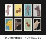 postage stamps collection.... | Shutterstock .eps vector #407461792