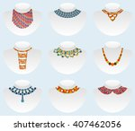 bead colorful set. vector... | Shutterstock .eps vector #407462056