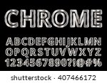 metal style font. chrome shiny... | Shutterstock .eps vector #407466172