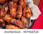 hot and spicy buffalo style... | Shutterstock . vector #407466526