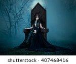 Dark Evil Queen Sitting On A...