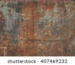 dark worn rusty metal texture... | Shutterstock . vector #407469232