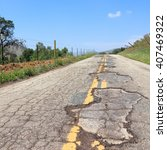 Damaged Road Of Yokohl Drive I...