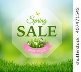 spring sale poster | Shutterstock . vector #407471542