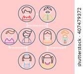 cartoon vector illustration of... | Shutterstock .eps vector #407479372