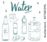 water collection of hand drawn... | Shutterstock .eps vector #407482396