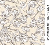 elegant seamless pattern with... | Shutterstock .eps vector #407491375