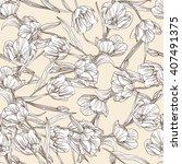 elegant seamless pattern with... | Shutterstock .eps vector #407491375