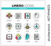 line icons set of creative... | Shutterstock .eps vector #407494825