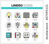 line icons set of corporate... | Shutterstock .eps vector #407495122