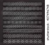 vintage decorative pattern...   Shutterstock .eps vector #407496748