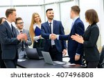 group of confident business... | Shutterstock . vector #407496808