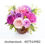 the bouquet of flowers on the... | Shutterstock . vector #407514982