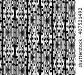 seamless  ikat pattern.... | Shutterstock .eps vector #407521492