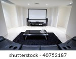 Home Theater Room - stock photo