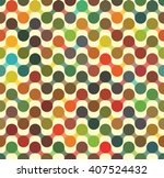 retro pattern with overlap... | Shutterstock .eps vector #407524432