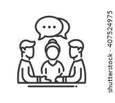 business meeting single... | Shutterstock .eps vector #407524975