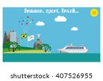 welcome to rio. olympic games... | Shutterstock .eps vector #407526955