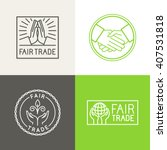 vector set of badges and labels ... | Shutterstock .eps vector #407531818