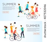 physical activity people... | Shutterstock .eps vector #407532046