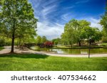 a beautiful spring day in... | Shutterstock . vector #407534662