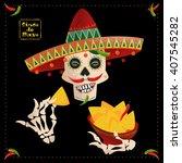 cinco de mayo. smiling mexican... | Shutterstock .eps vector #407545282