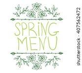 hand sketched typographic... | Shutterstock .eps vector #407562472