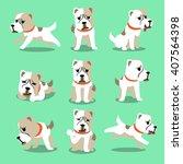 cartoon character alabai dog...   Shutterstock .eps vector #407564398