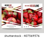 vector brochure design template ... | Shutterstock .eps vector #407569576