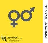 web line icon. gender symbol ...   Shutterstock .eps vector #407579632