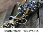 twig willow wood background | Shutterstock . vector #407596615
