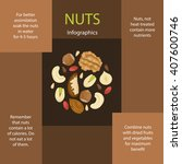 nuts composed in circle shape.... | Shutterstock .eps vector #407600746