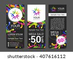 vector colorful banner made of... | Shutterstock .eps vector #407616112