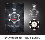 casino card design   poker   vip | Shutterstock .eps vector #407616592