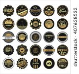 vintage labels black and brown... | Shutterstock .eps vector #407628532