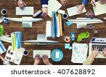administration occupation... | Shutterstock . vector #407628892