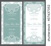 vintage vector card templates.... | Shutterstock .eps vector #407637352