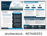 vector brochure  flyer ... | Shutterstock .eps vector #407640352
