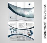 vector brochure  flyer ... | Shutterstock .eps vector #407640355